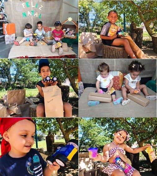 Crianças já estão com seus presentes