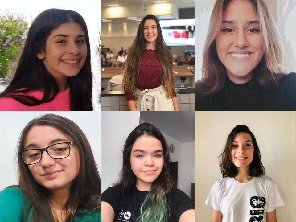 Ana Alice, Giovanna, Isabela, Julia, Manuella e Maria Rita